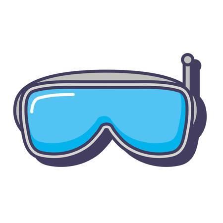 reality virtual goggles device digital innovation vector illustration
