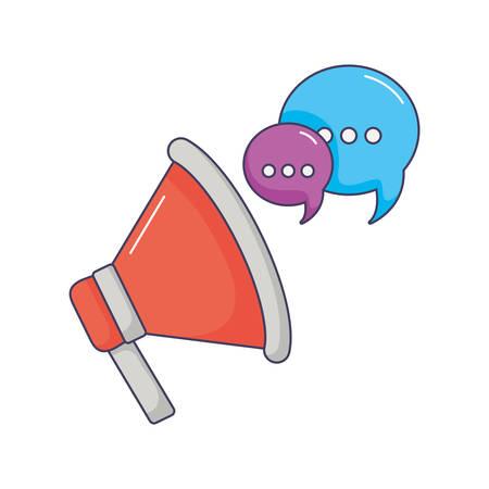 megaphone marketing speaker speech bubble innovation vector illustration Vettoriali