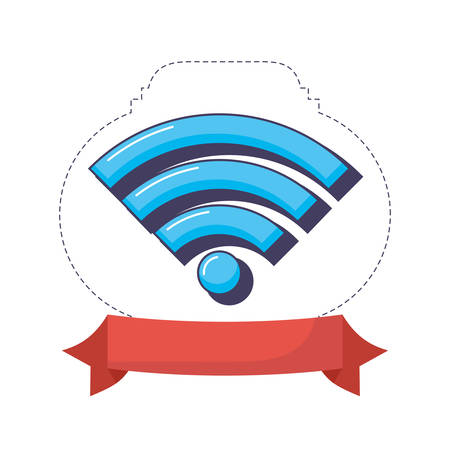 wifi internet signal digital technology innovation vector illustration