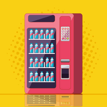 dispenser of beverage machine electronic vector illustration design