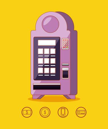 dispenser machine electronic vector illustration design