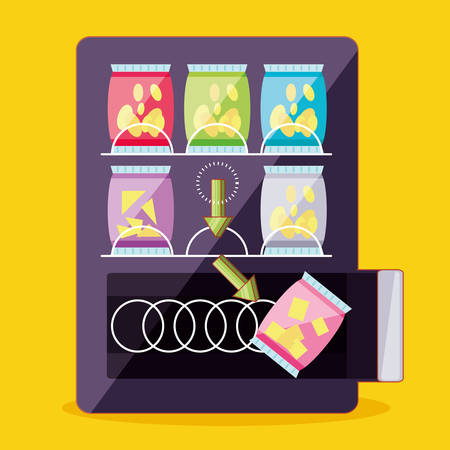 dispenser of chips machine electronic vector illustration design Illustration