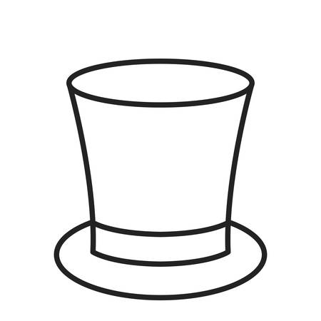 top hat icon over white background, vector illustration