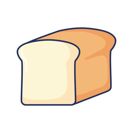 illustration vectorielle de pain frais blé aliments biologiques