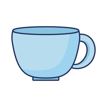 blue coffee cup ceramic icon vector illustration