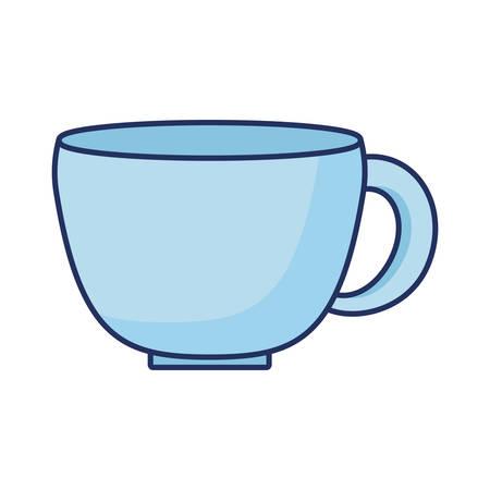 blue coffee cup ceramic icon  vector illustration