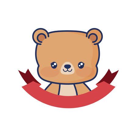 Ilustración de vector de cinta de bebé animal lindo oso