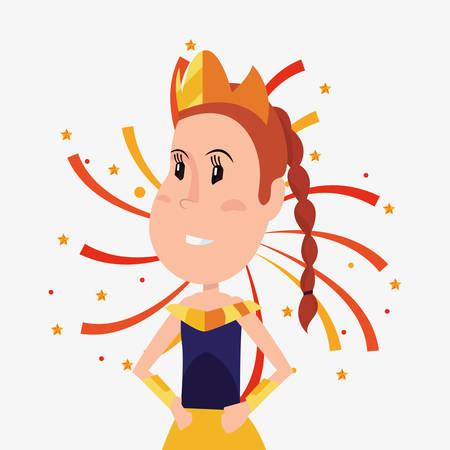 halloween customes cute princess rockets stars vector illustration Illustration