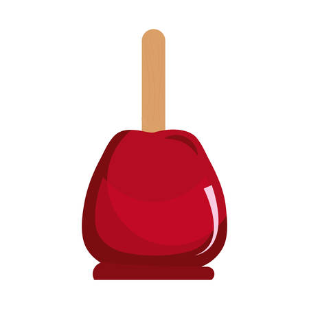 candy apple tasty sweet snack image vector illustration