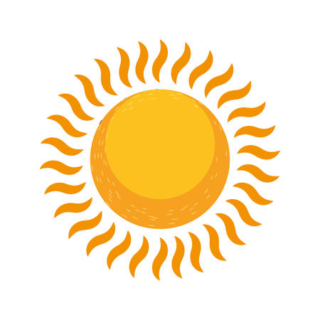 glowing sun summer hot image vector illustration