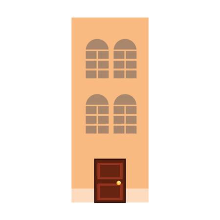 antique classic architecture building image vector illustration Illustration