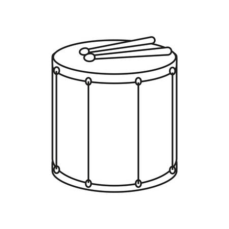 drum instrument musical percussion vector illustration outline