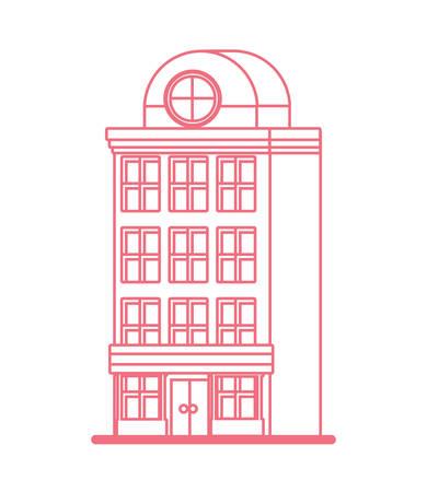 building architecture skyscraper structure design vector illustration
