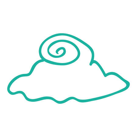 cloud natural sky climate design vector illustration
