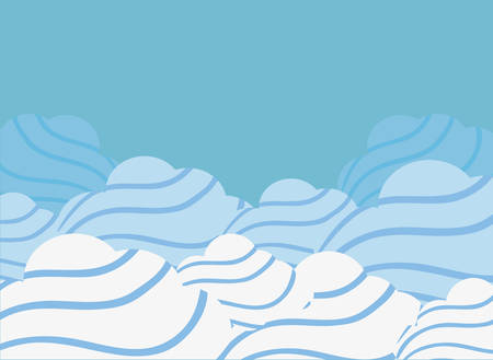 clouds weather sky nature design vector illustration