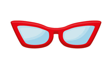 femenine eyeglasses isolated icon vector illustration design