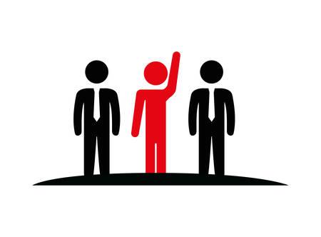 group of people teamwork silhouette vector illustration design