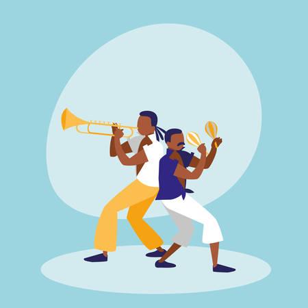 mambo band avatar character vector illustration design Illustration