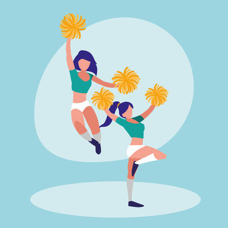women cheerleader isolated icon vector illustration design Illustration
