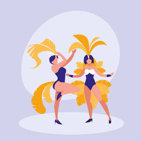 samba dancer isolated icon vector illustration design