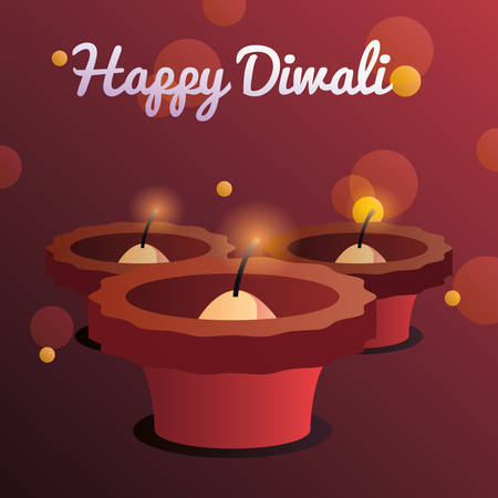 happy diwali theme vector illustration
