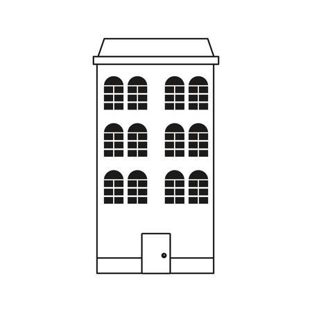 building architecture structure classic facade vector illustration