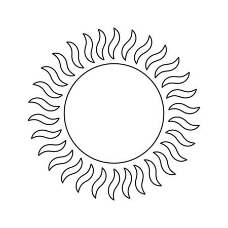 glowing sun summer hot image vector illustration