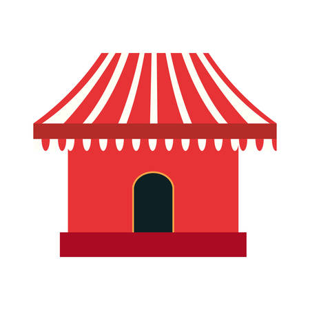 park booth carnival festival vector illustration outline Illustration