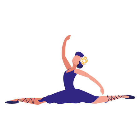 avatar ballet dancer icon over white background, colorful design. vector illustration