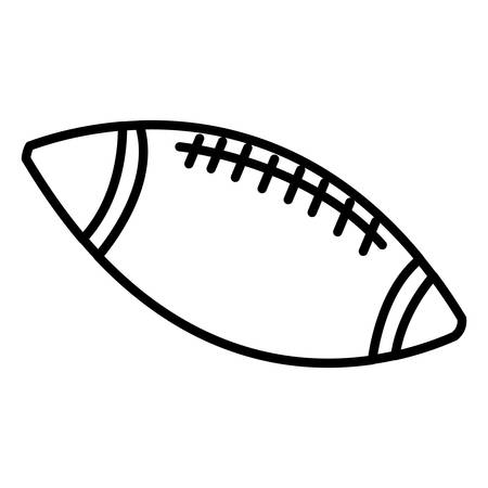 american football ball over white background, vector illustration