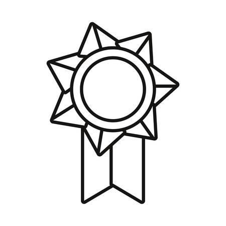 award medal on white background vector illustration vector illustration