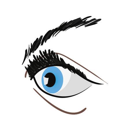 human eye on white background vector illustration Banque d'images - 109977835