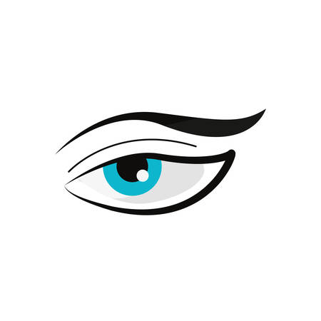 human eye on white background vector illustration Banque d'images - 109977836