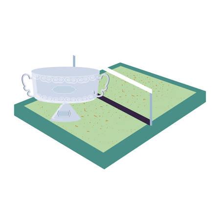 tennis sport court icon vector illustration design Illustration