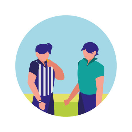 soccer referees icon  over white background, vector illustration