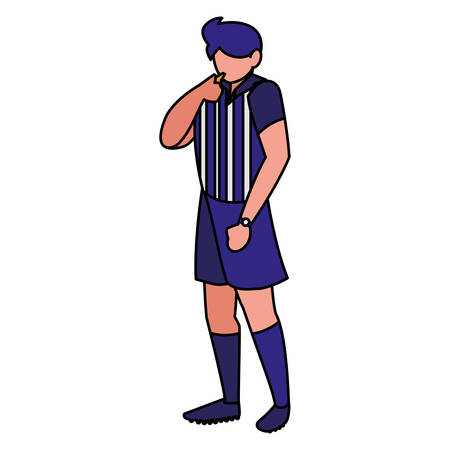 soccer referee icon  over white background, vector illustration
