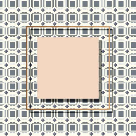 square frame elegant label template vector illustration