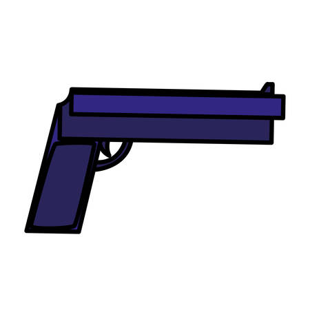 gun icon over white background, vector illustration Illustration
