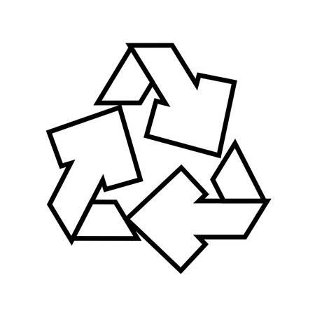 recycle arrows symbol icon vector illustration design Vektoros illusztráció
