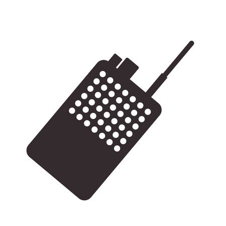 police radio communication icon vector illustration design