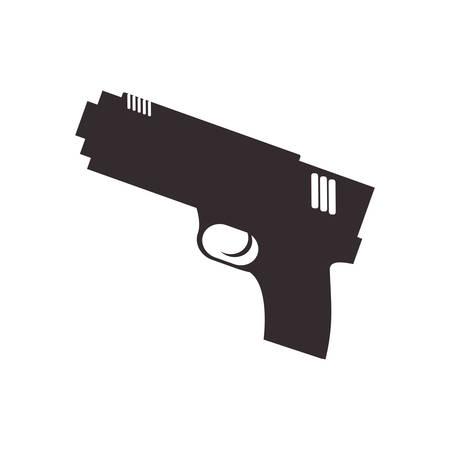 gun weapon isolated icon vector illustration design