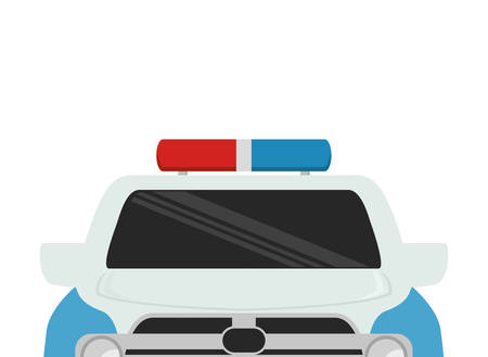 police patrol vehicle isolated icon vector illustration design