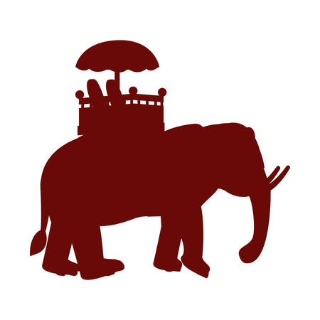 indian royal elephant independence day vector illustration