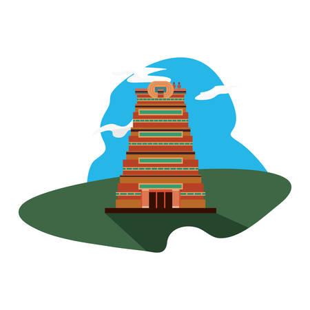 chennai city monument indian landscape vector illustration Illustration