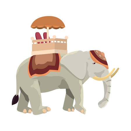 indian royal elephant independence day vector illustration 일러스트