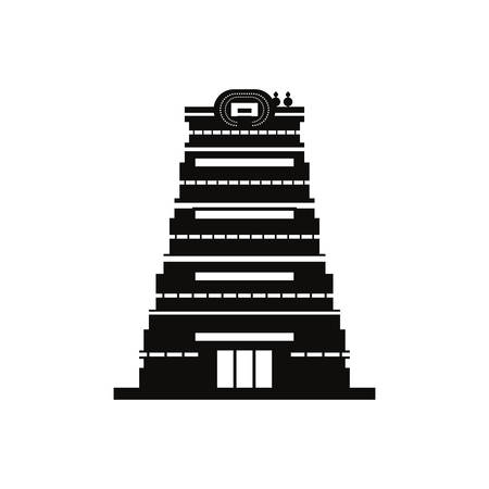 chennai city monument indian on white background vector illustration