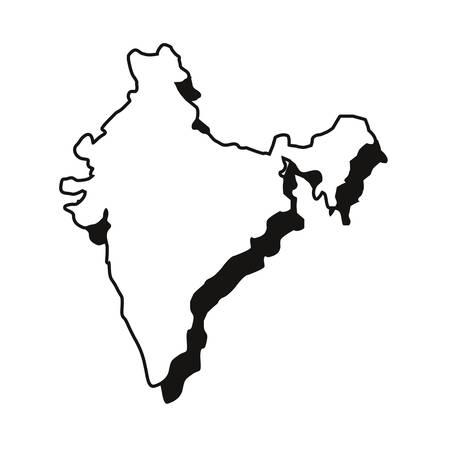 indian map landmark on white background vector illustration Ilustrace
