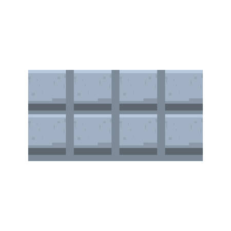 pixel video game wall steel vector illustration Standard-Bild - 110419315