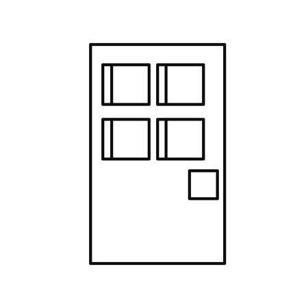 pixel door entrance on white background vector illustration