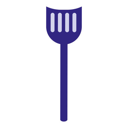 grill spatula over white bakground, vector illustration